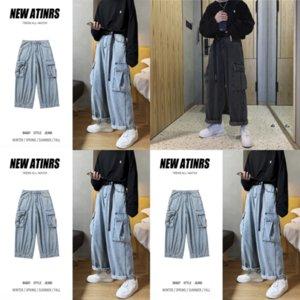 Jeans in cotone da uomo ZJCE Jeans in cotone alto vita alta jeans blu indigo jean uomo denim uomini autunno casual pantaloni classici qualità uomini morbidi