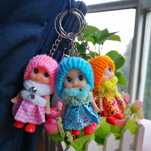 Kids Toys Dolls Mobile Phone Pendant Soft Interactive Baby Dolls Toy Mini Doll For Wedding Gift Girls Bag Decorations Free Shipping
