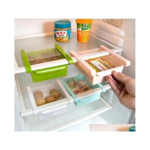 mini abs slide kitchen fridge zer space saver organization storage rack bathroom shelf kitchen food storage savers sD5HN