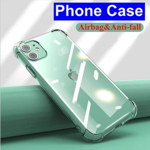 1,0 мм Ультратонкая мягкая прозрачная подушка безопасности ударопрочный Телефон Чехол TPU Мобильные Четыре Чехол Для всех моделей iPhone 12 Pro Max