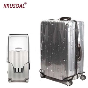 PVC Suitcase Luggage Protective Case travel Accessories Transparent Luggage Waterproof Dust Bag Covers