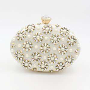 Egg Shape Evening Party Bag European and American Colorful Diamond Handbag Jewelry Cell Phone Storage Bag One-shoulder Bag