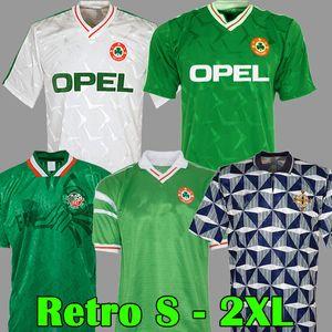 Retro Vintage 1988 1990 1992 1994, Irland Fussball Jersey Republik Irland Football Hemd National 90 WM-Weltmeisterschaft Nordirland 1993 Kits