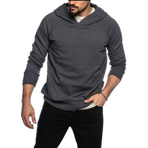 QRWR 2020 Autumn Winter New Loong Sleeve Men's Hoodies Casual Solid Color Hoodie Fashion Loose Oversize Hoodie Men High Quality