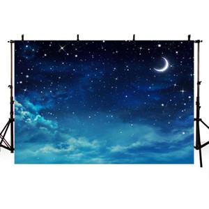 Mehofoto Vinyl Cloth Night Space Backdrops for Photography Studio Little Star Photo Shoot Backgrounds Newborn Props F-2085