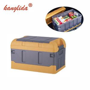 KANGLIDA Car Trunk Organizer Folding Backseat Storage Basket Grey Multi-function High Capacity Car Stowing Tidying