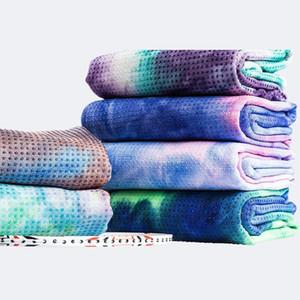 Oyoo tie-tintura impressão yoga cobertor suor-absorção profissional yoga treinamento cobertor fechar pele non-flip esteira colorida toalha1