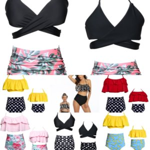6FVW NUEVA NAVEA BIKINIS BIKINS JUEGO PUSH RUBLE 2016 Vendaje Womans Bikini Swim Swimwear Swimwear Push Up Cut Agujeros Bikini Brasil Configuración