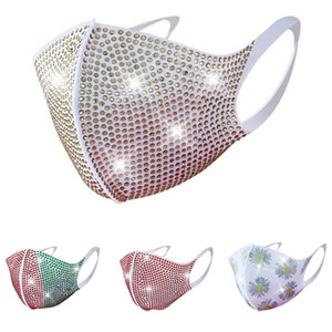fashion s face masks Flash diamond rhinestone mask star master nightclub party personality mask five colors