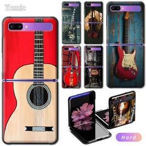 """for Hard Samsung Case Galaxy Z Flip 6.7"""" Black Mobile Phone Bag Cover Guitar Amp Marshall ZFlip 5G PC Segmented Protect Shell"""