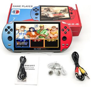 X12 PLUS Video Game 7inch LCD Double Rocker Portable Handheld Retro Game Console Video MP5 Player for GBA SFC MD Arcade Retro Games
