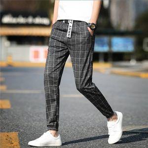 Plaid Pants Men casual pants male Women trainingsbroek mannen retro Harajuku style wild sports hip hop joggers fz2615