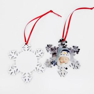 Sublimazione di legno in bianco del fiocco di neve del pendente DIY di legno Fiocchi di neve pianura Ornament bambino pirografo ornamento doppio lati Stamping Carta LSK1561