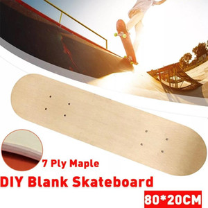 2PCS 80x20cm 7 Layers Maple Double Rocker Skateboard Maple Skateboard Deck DIY Children Skate Board Longboard Skateboards