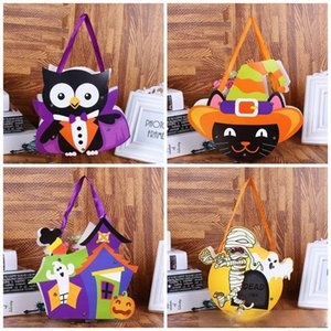 Children DIY Handmade Halloween Handbag Hand Held Candy Bags Paper Kindergarten Gift Wrap Bag For Party Supplies 12styles 1 2cy E1