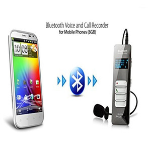 Wireless Bluetooth Teléfono Móvil Call Grabador de voz Dispositivo de grabación de sonido de audio activado digital Dictáfono con micrófono1