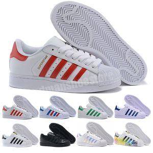 2021 Casual Originals Superstar Weiß Hologramm Iriurtecent Junior Superstars 80er Jahre Pride Sneakers Super Star Frauen Männer Sport Freizeitschuhe
