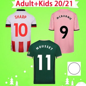 Sheffield united 20 21 Sheffield Soccer Jerseys Berge Brewster Burke Mousset 2020 2021 McBurnie Lundstram Fleck Kit Kit de football Norwood Sharp Sharp Utd