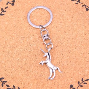 Fashion Keychain 35*15mm unicorn horse Pendants DIY Jewelry Car Key Chain Ring Holder Souvenir For Gift