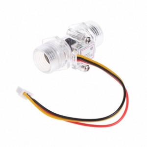 """Sensor de flujo de agua 1pc interruptor G1 / 2"""" de control del medidor de efecto Hall DC 5-15V vDHh #"""