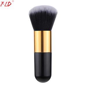 FLD Maquillaje Professional Foundation Powder Face Blush Brush Инструменты Наборы Вуд Ручка Kabuki Brush Pedzle Do Makijazu