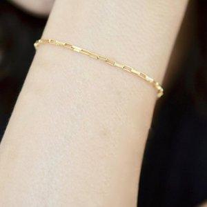 14K Gold Filled Chain Bracelet Handmade Jewelry Boho Charms Bracelets Vintage Anklets for Women Bridesmaid Gift Gold Bracelet