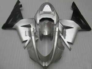 moto carrosserie moule d'injection kit carénages pour l'argent et noir KAWASAKI Ninja ZX10R 04 05 ZX 10R 2004 kits carrosserie 2005 ABS set + 5gifts