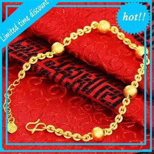 Fade 24k Not Yellow Men Sand Gold Bracelet Hand Chain for Women Personality Men's Bracelets Jewelry Bizuteria 89KL