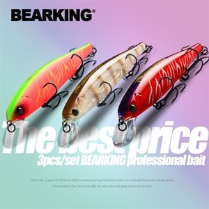 Bearking En Iyi Fiyat 3 adet / takım 11 cm 15g Dalış 1.5 M Balıkçılık Dişli Parlak Lures Minnow Krank Sabit Ağırlık Wobbler Yem ISCA Yapay Y200911