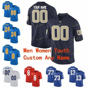 Personalizado Pittsburgh Panthers Pitt College Football Jersey 82 Rafael Araujo-Lopes 89 Mike Ditka 97 Aaron Donald Homens Mulheres Juventude Kids Stitched