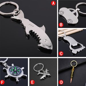 Opener Keychain Fashion Creativity Shark Car Bullet Styling Stainless Steel Corkscrew Key Pendant Portable Beer Opener