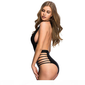 Varleinsar Sexy Deep V neck high waist one piece swimsuit strappy backless monokini female swimwear women bathing suit swim V78