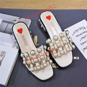Hococal 2018 Woman Sandals String Bead Fashion Square Toe Slippers Summer Beach Flats Slip On Women Shoes Creepers