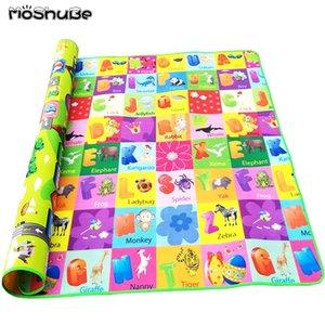 Moshube rastejando Jogo Desenvolvendo Tapete 200 * 180 * 0.5cm Puzzle Mat Mats para Crianças Crianças Eva Espuma de Espuma Tapetes Bebê Brinquedos LJ200911