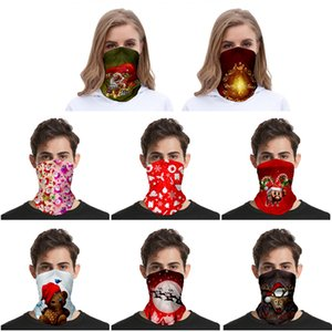 2020 Chirstmas Kopftuch Face Shield Bandana Gesichtsmaske Outdoor Sports Stirnband Visor Hals Gamasche Weihnachtsdekoration Geschenke