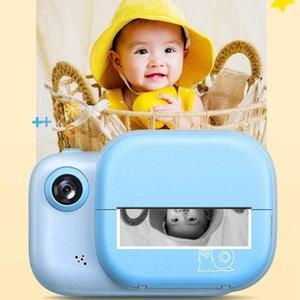 Digital Cameras Mini Children Camera Dual Print Paper Instant Wide-angle 3 Inch Screen Kids1