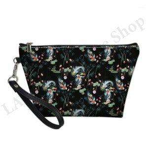 المرأة حقيبة ماكياج اليابانية حديقة المياه طباعة أدوات الزينة كيت الحقيبة بو الجلود المرأة مستحضرات التجميل المنظم الجمال القضية icelaire1