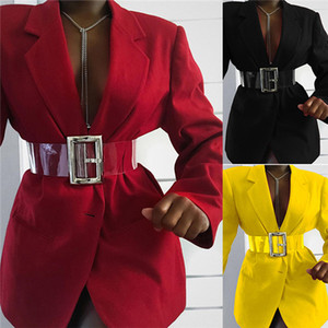 Solid Color Slim Blazers Womens Spring Autumn Fall Fashion Long Sleeve Lapel Neck Outerwear Clothing OL Style Women Blazer Coats