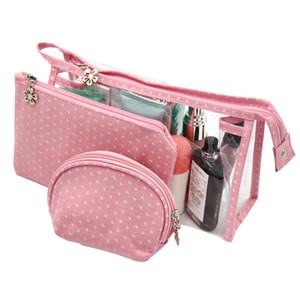 Bag Cosmetic Women PVC Waterproof Makeup Organizer Travel Storage Toiletry Tote Portable Beauty Bag 3pcs set Handbag Pouch Nouwi