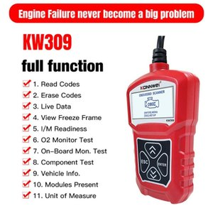 KONNWEI KW309 OBDII Auto Car Diagnostic Scanner Tool OBDII 2 Code Reader EOBD Scanning Machine 7 Languages Car OBDII Scanner