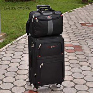 Chupermore Impermeabile Oxford Rolling Bagagli Set di spinner Uomo Business Suitcase Wheels 30 pollici Borsa per laptop del carrello ad alta capacità LJ201104