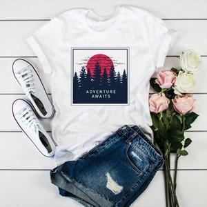 Femmes T-shirt Heart Imprimer Love T-shirts Femmes Summer Casual Tops Blancs Vraîchis Tshirt Camisas Mujer