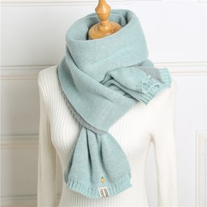 Hot Winter Scarf Women Cashmere Pashmina Solid Knit Scarves Warm Lady Thick Shawl Pineapple Girl Autumn Blanket Wraps New 201019