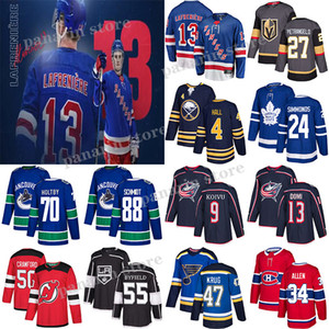 New York Rangers 13 Alexis LaFreniere Toronto Maple Leafs 24 Wayne Simmonds Vancouver Canucks 88 NATE SCHMIDT 70 Braden Holtby Hockey Jersey