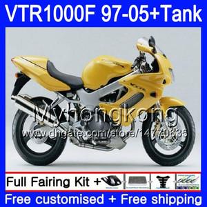 Honda SuperHawk VTR1000F için Vücut + Tank VTR1000F 97 98 02 03 04 05 Stok Sarı 56HM.97 VTR1000 F VTR 1000 F 1000F 1997 2002 2003 2004 2005 Fairing