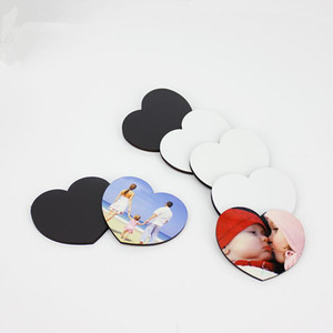 Sublimation Blank Fridge Magnets Heart Shape Styles Diy Sublimation Blanks Lovely Soft Refrigerator Magnet Home Furnishing Decorate DHL Free