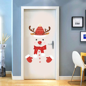 Refrigerator Wall Sticker Merry Santa Christmas Claus festival decoration living room Home window glass door stickers
