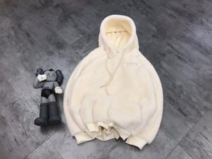 Diseñador de las mujeres Fleece sudaderas 20FW de alta calidad de la manera con la camiseta de las letras de bordado grueso invierno de las mujeres de las ropas Blanco Rojo Gris M-XL