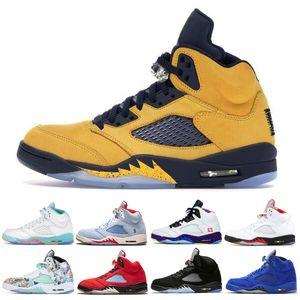 Fab Basketball Hot Men Sale Schuhe 5 5s 5 Sp Michigan Insel Grün Mens Fashion Outdoor bequemen Turnschuhe Trainer-Schuhe 7-13w4do