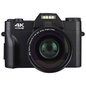 الكاميرات الرقمية المهنية 4K كاميرا فيديو كاميرا الفيديو UHD ل YouTube WiFi المحمولة 16x Zoom Selfie Cam1